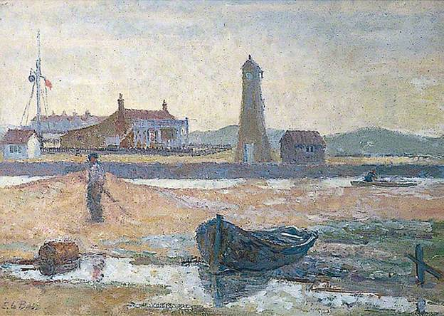 The Lighthouse, Rye Harbour by Edward Le Bas